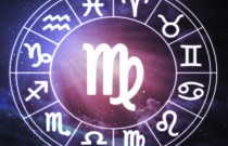 Virgo - horoscope circle on beautiful space background